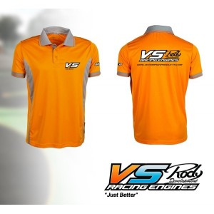 POLO VS Orange/Gris-XXL VS15006-XXL