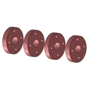 Piston amortisseur 4 trous 03182-4