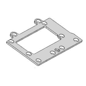Plaque chassis arriere Aluminum 02008-4