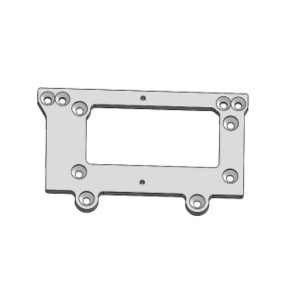 Plaque chassis arriere Aluminum 03418-1