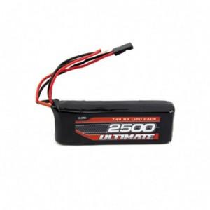 Batterie Recepteur LIPO 2500 - 7.4V Plat UR4451