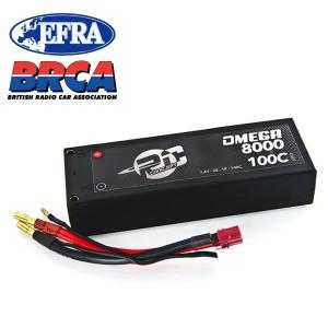 LIPO 8000 MAH 2S 7,4V 100C HARD CASE 50C5180100T