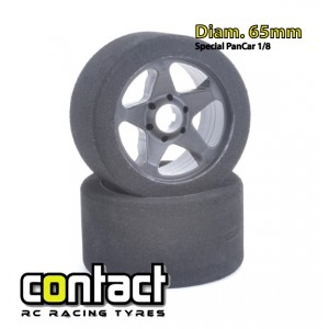 CONTACT TYRES 1/8 FRONT 32° 5S 65mm(2)