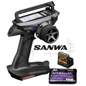 COMBO RADIO SANWA MT-44 PC + RX482 + TX BATTERIE S.101A32171