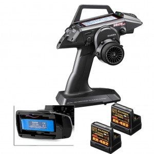 RADIO SANWA M12S-RS PC + 2X RECEPTEUR RX482 + TX BATTERIE