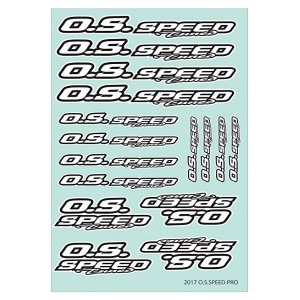 O.S.SPEED PRO DECAL 2017 WHITE 79884294