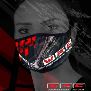 WRC Anatomic anti covid mask in lycra fabric.