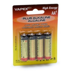 Plus Alkaline batteries AA 4pc VPLUS4AA