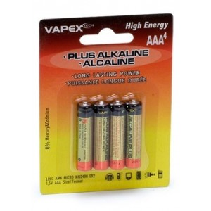 Plus Alkaline batteries AAA 4Pcs VPLUS4AAA